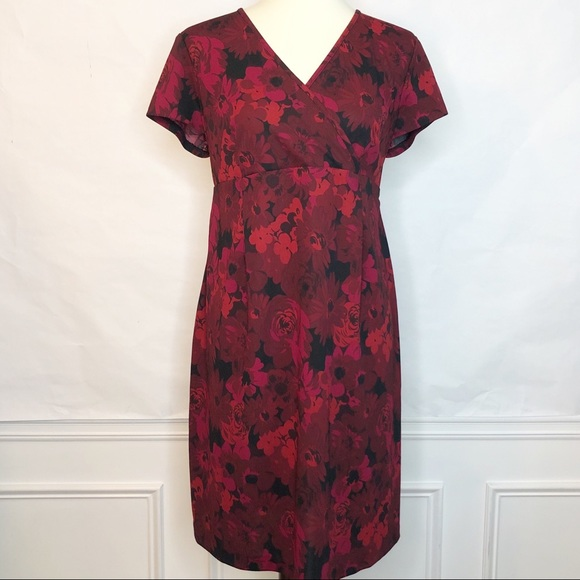 Motherhood Maternity Dresses & Skirts - NWT Motherhood Maternity Red Floral Dress Size Med